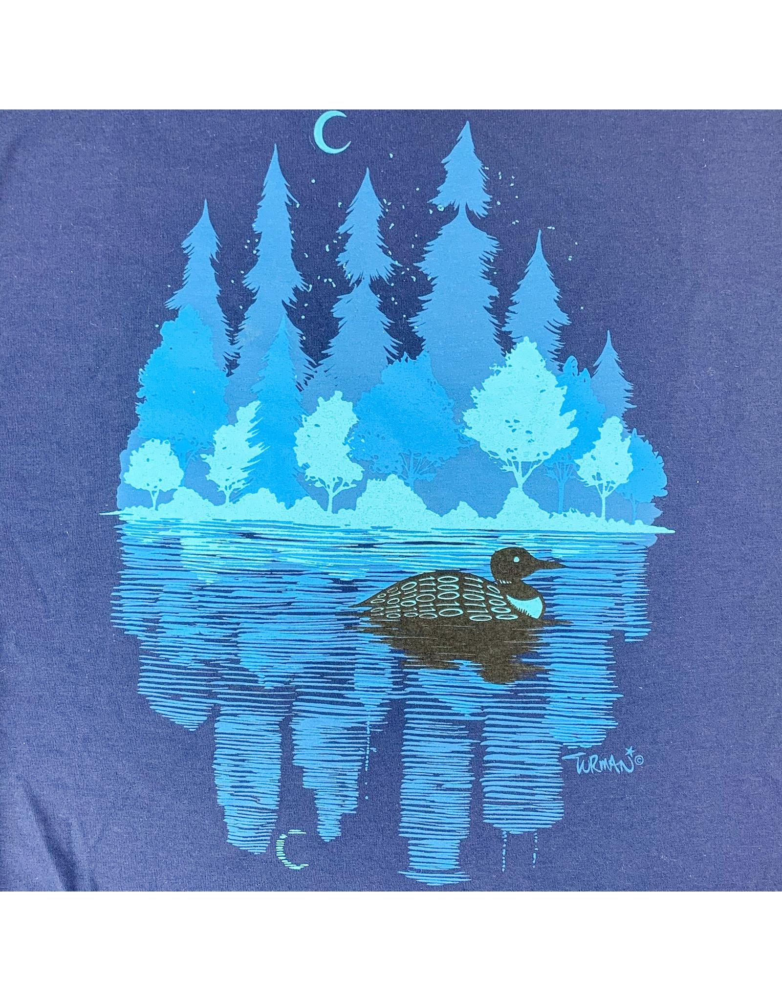 Truman Merch Co MN Loon T-Shirt (Navy) Large