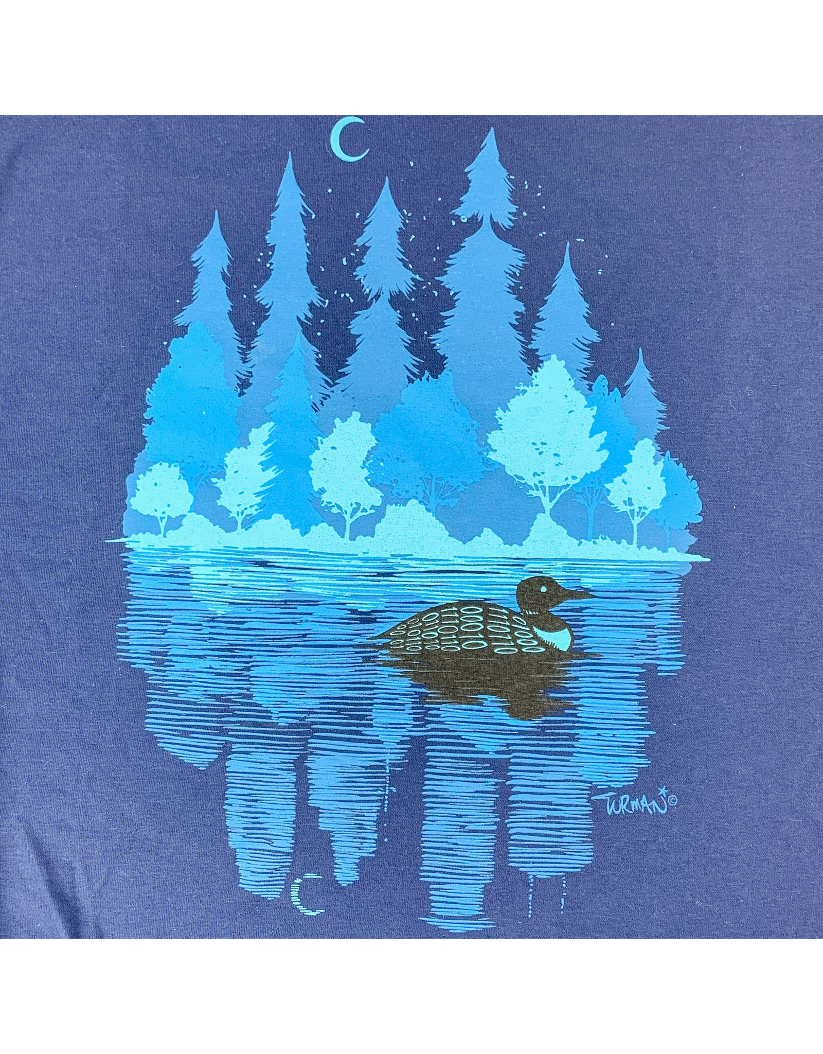 Truman Merch Co MN Loon T-shirt (Navy)Small