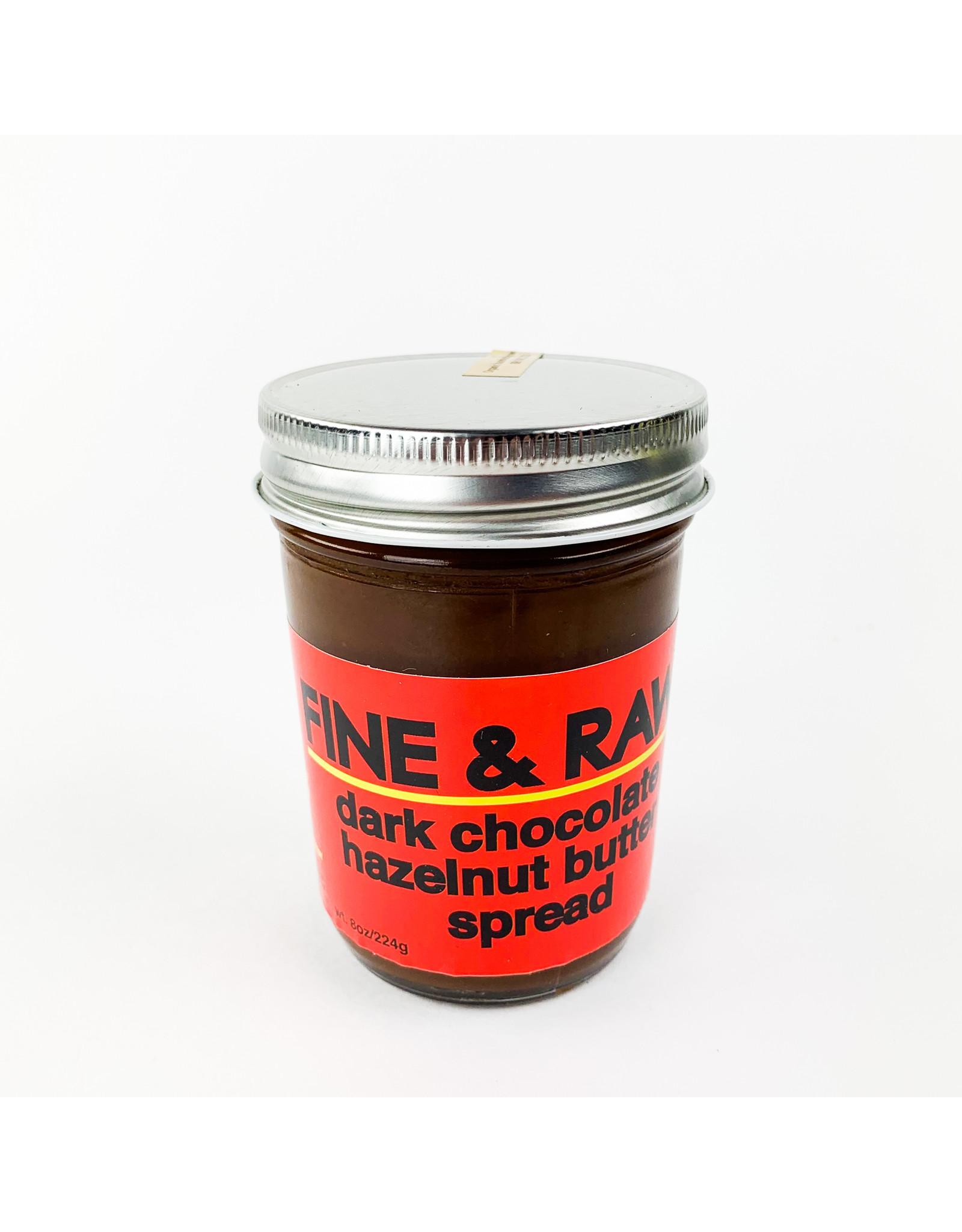 Fine and Raw Dark Chocolate Hazelnut Spread