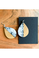 Peter Mielech Hooks - White and Blonde Teardrops