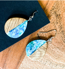 Peter Mielech Hooks - Small Blue and Blonde Teardrops