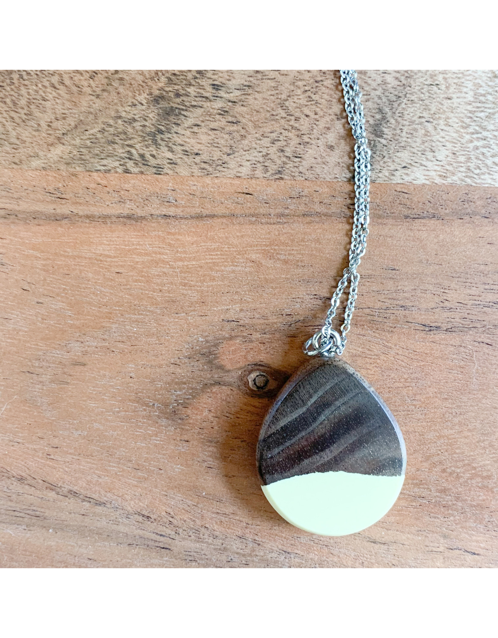Peter Mielech Necklace - Brown and Cream Mini Teardrop