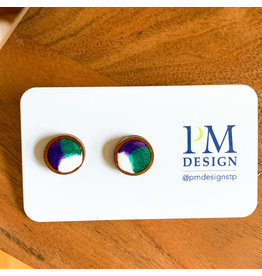 Peter Mielech Studs - Purple and Teal