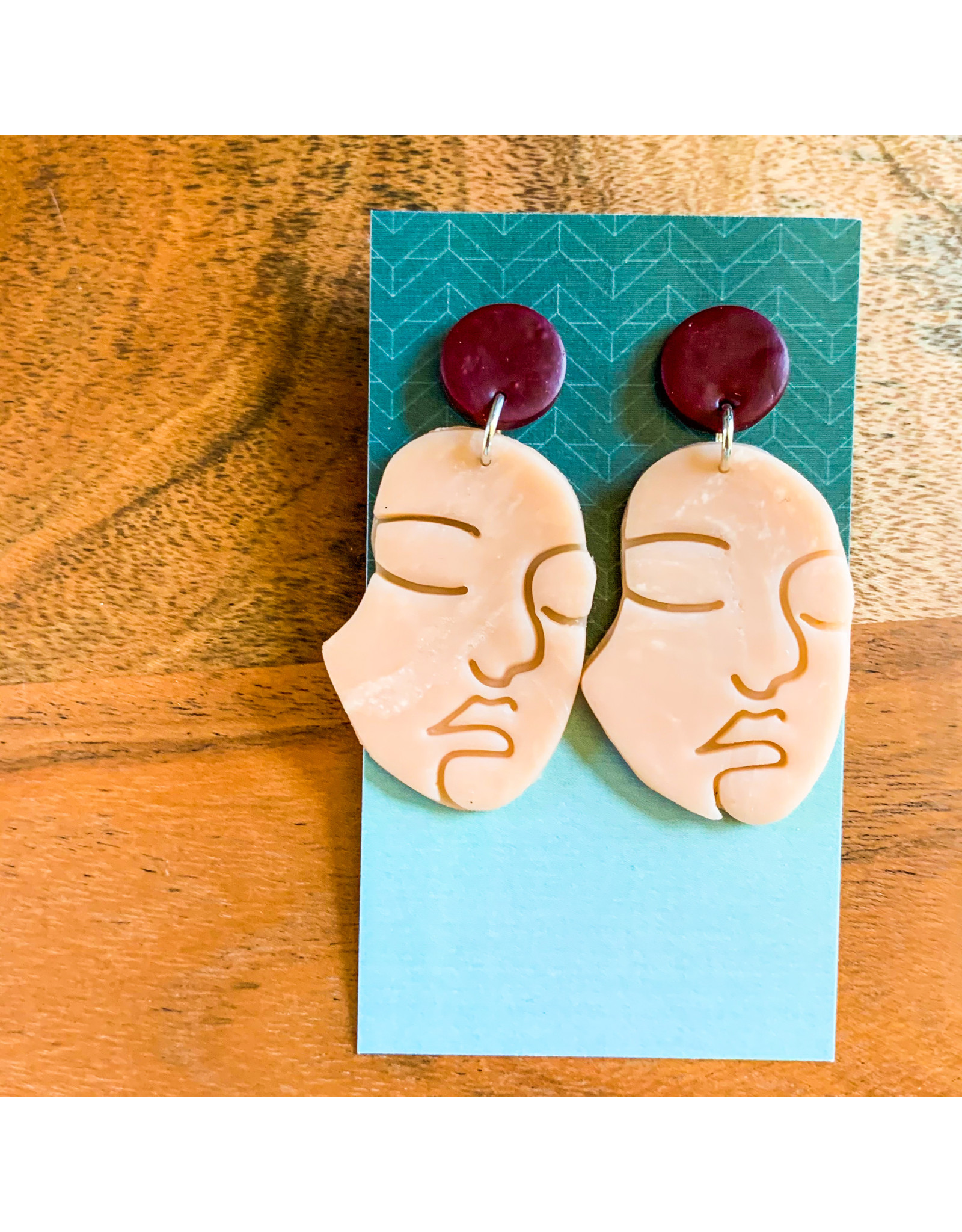 Maria Anholzer-Consignment Pink and Maroon Faces Consignment