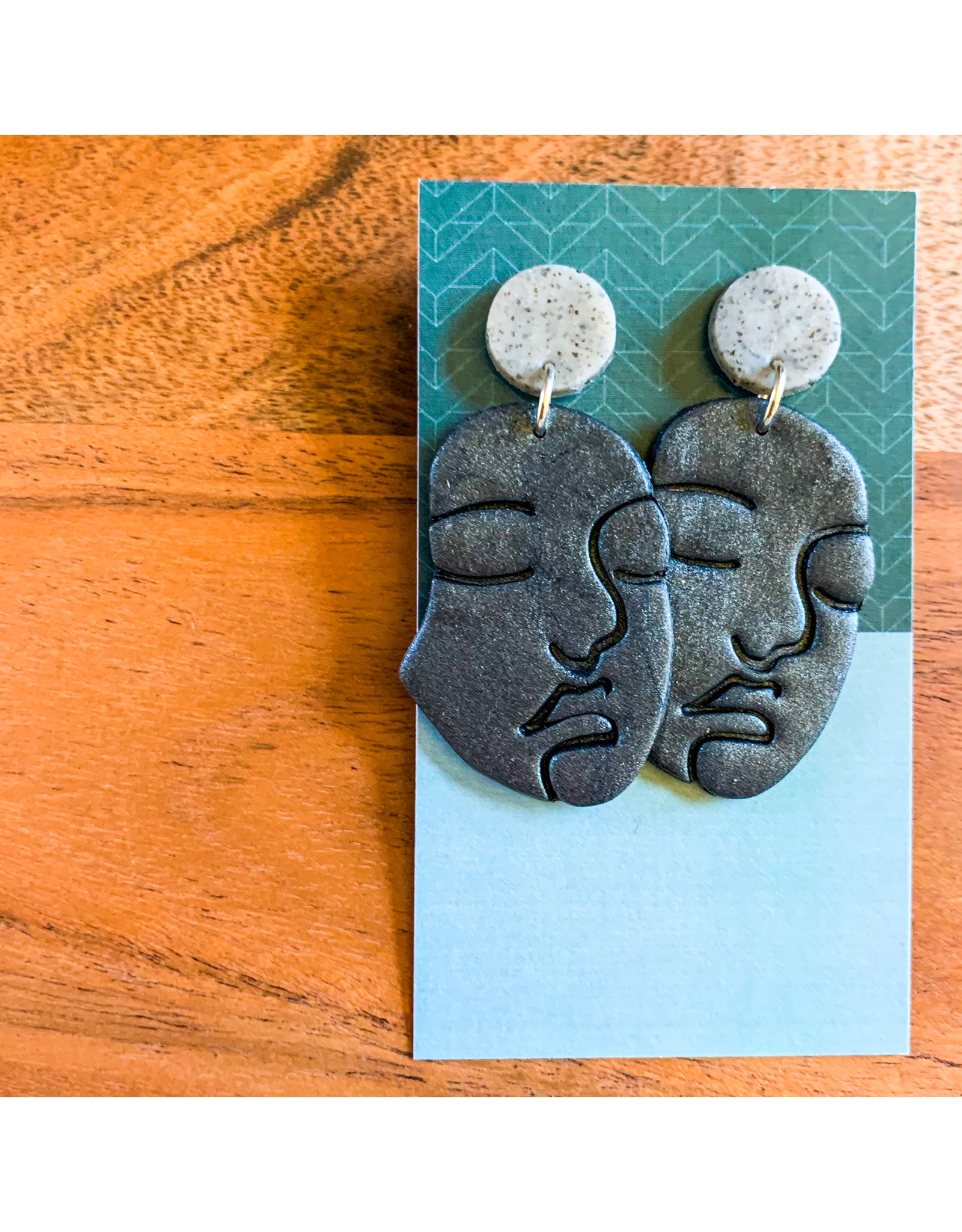 Maria Anholzer-Consignment Grey and Charcoal Faces Consignment