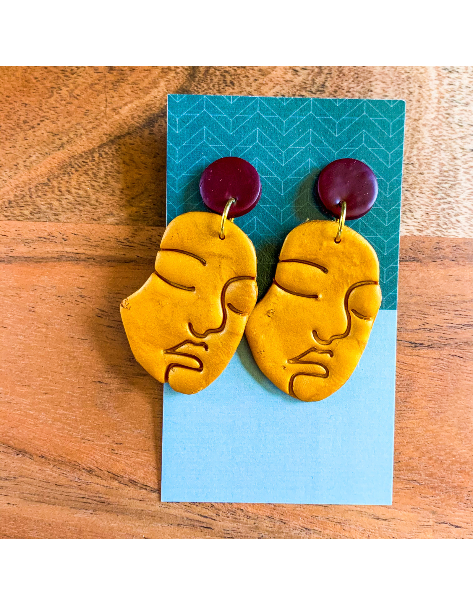 Maria Anholzer-Consignment Gold and Maroon Faces Consignment