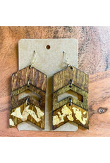 SARRA- Consignment Gold FLake Tri Tier Consignment