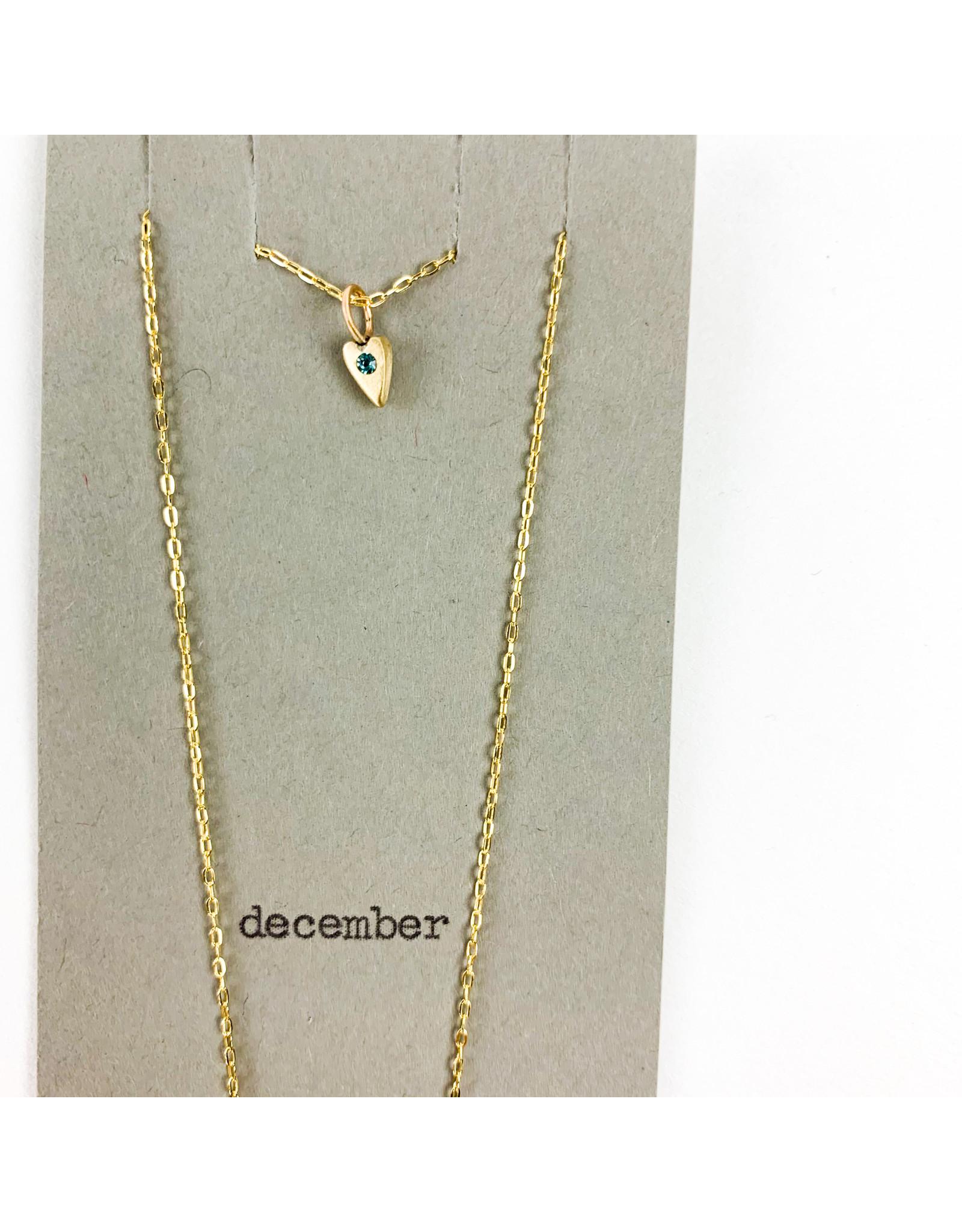 penny larsen December Necklace/ Blue Topaz Gold Chain