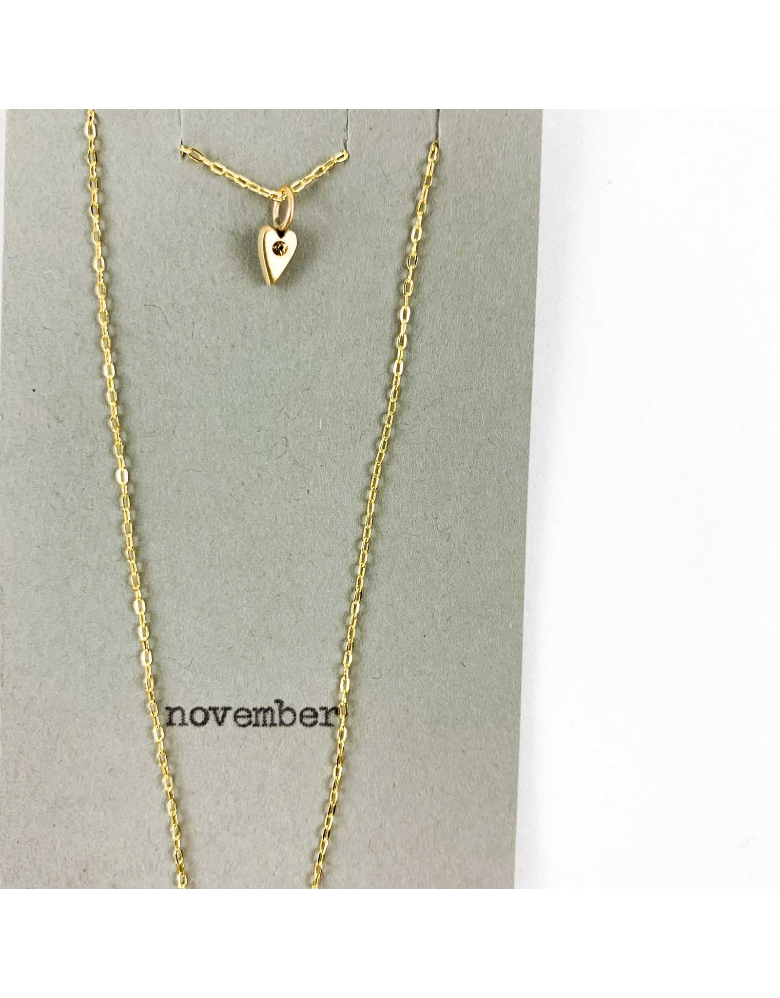 penny larsen November Necklace/ Topaz Gold Chain