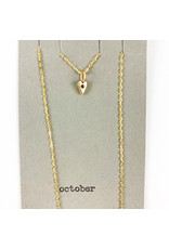 penny larsen October Necklace/ Pink Tourmaline Gold Chain
