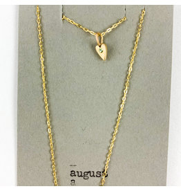 penny larsen August Necklace/ Peridot Gold Chain