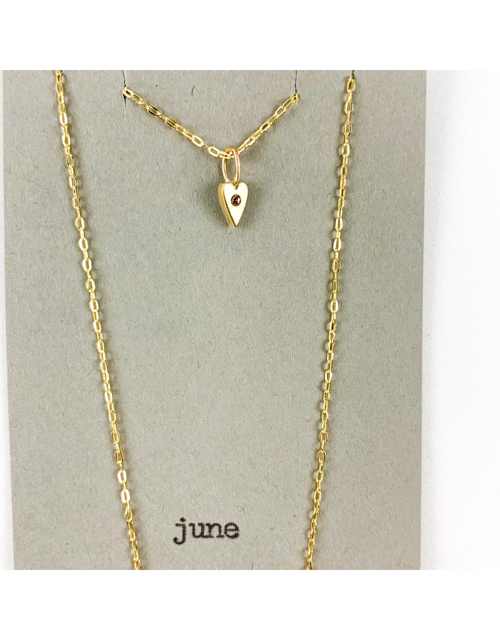 penny larsen June Necklace/ Alexandrite Gold Chain