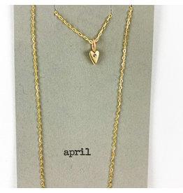 penny larsen April Necklace/ Diamond Gold Chain