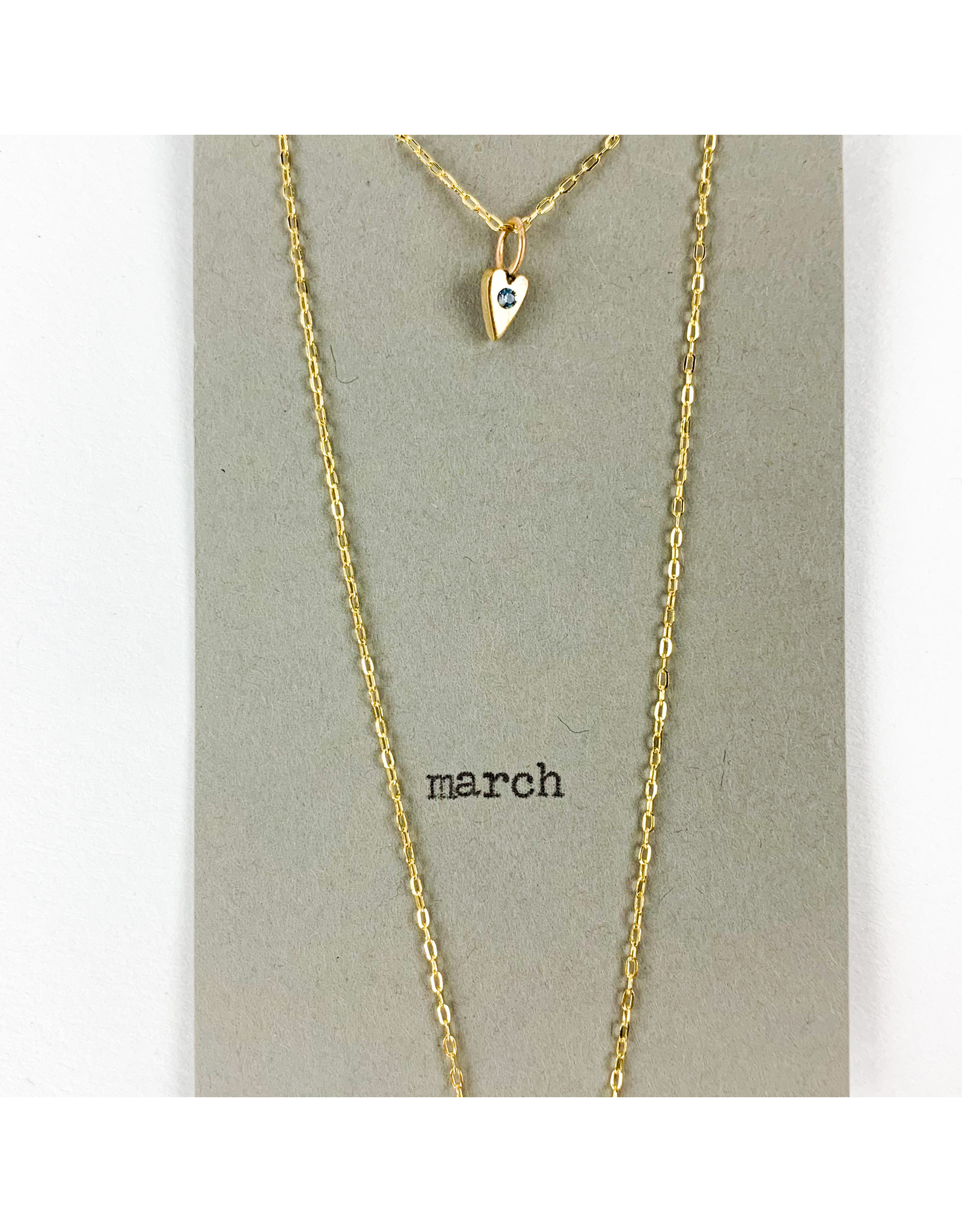 penny larsen March Necklace/ Aquamarine Gold Chain