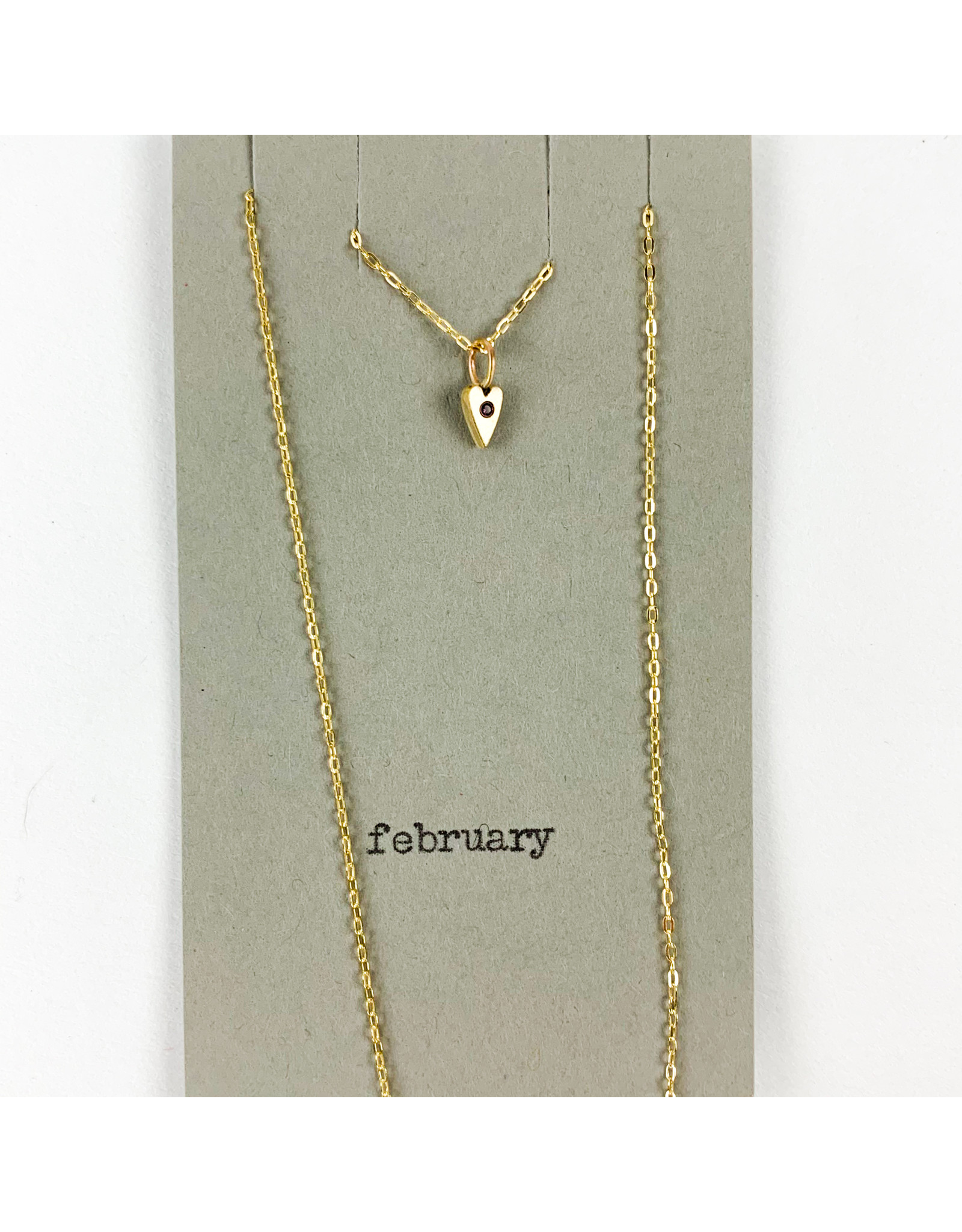 penny larsen February Necklace/ Amethyst Gold Chain