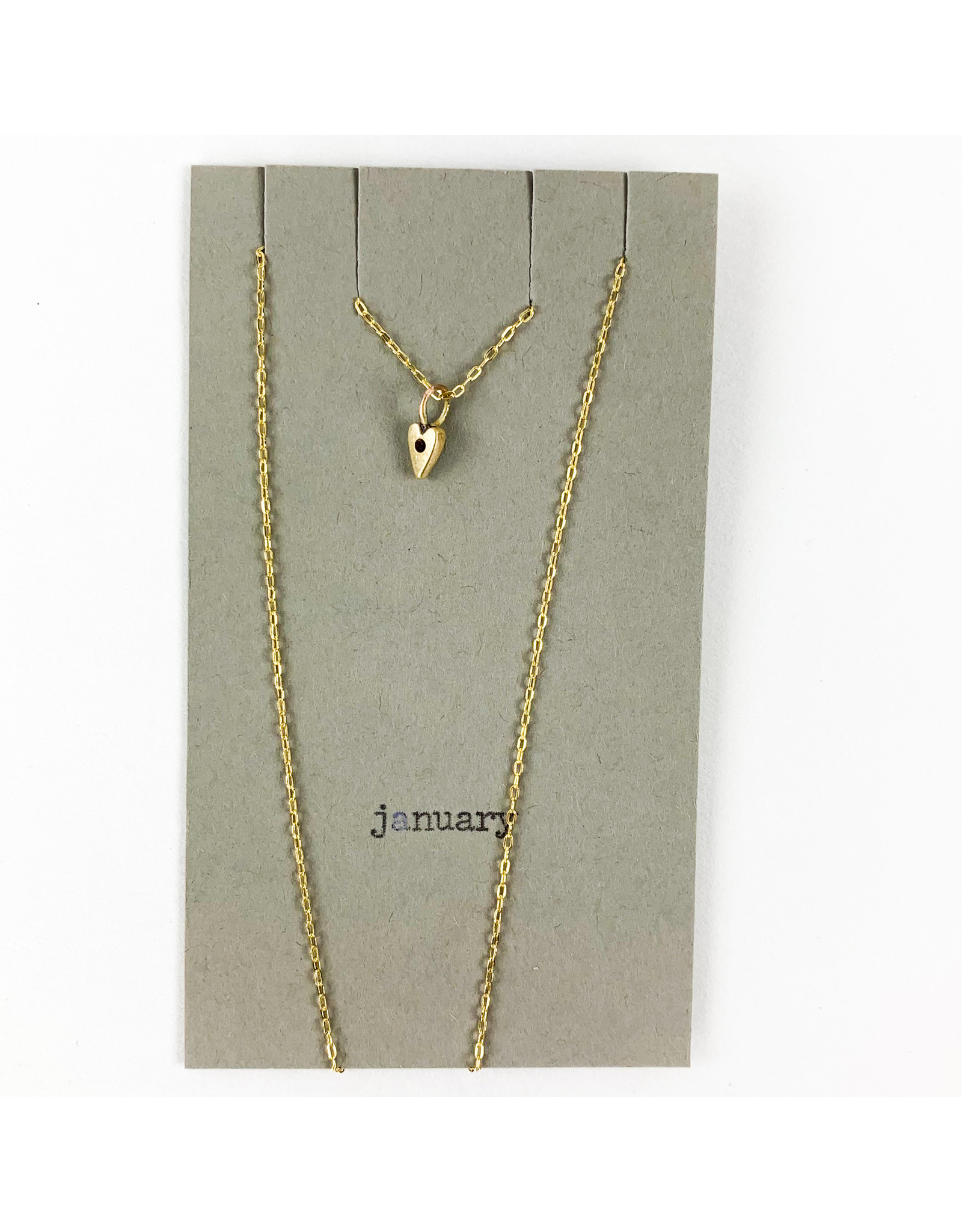 penny larsen January Necklace/ Garnet Gold Chain