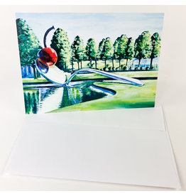 Cosette Designs Cherry spoon Greeting Card