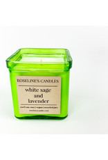 Roseline's Candles White Sage and Lavender Candle