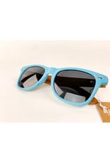Blue Planet Sunglasses Wheat Sky Blue Zebra Wood