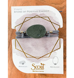 Suede Pyrite Gold Stone of Positivity