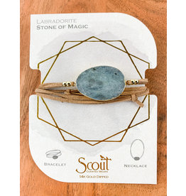 Suede Labradorite Gold Stone of Magic