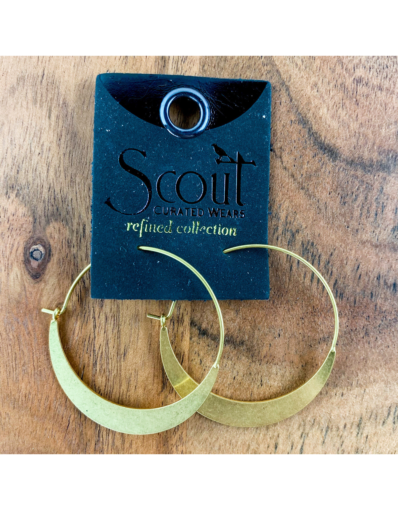 Crescent Hoop Gold