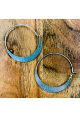 Crescent Hoop Sterling Silver