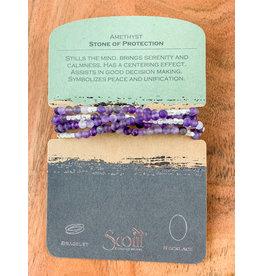 Stone Wrap Bracelet Amethyst/Silver
