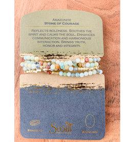 Amazonite & Gold bracelet