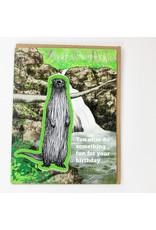 water knot Otter Sticker Card