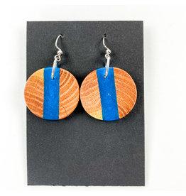 Peter Mielech Earrings Sea Blue Circle Stripe
