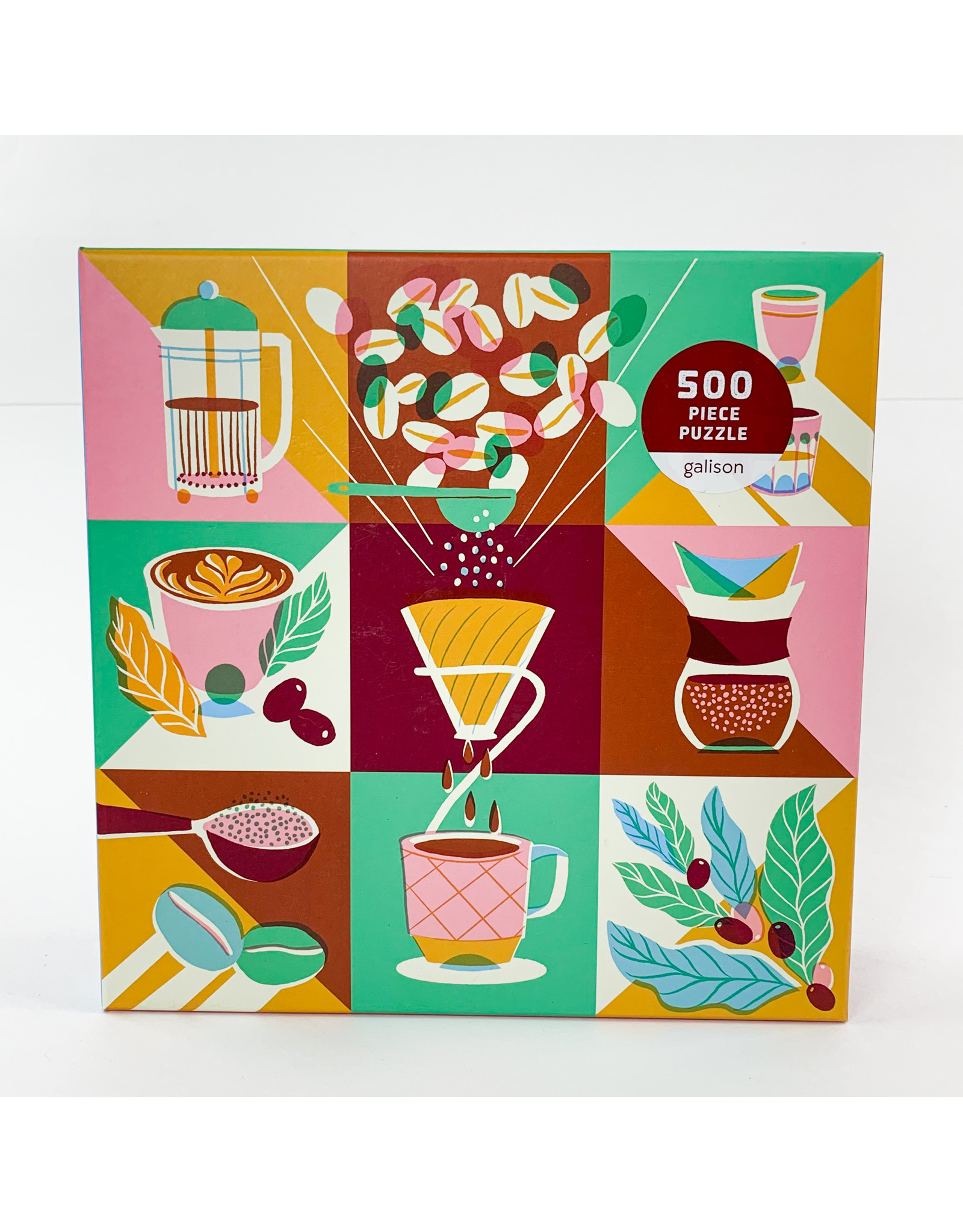 Chronicle Books Puzzle 500 Coffeeology