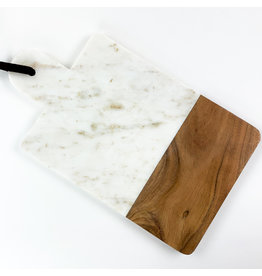 Now Designs Serving Paddle White Marble