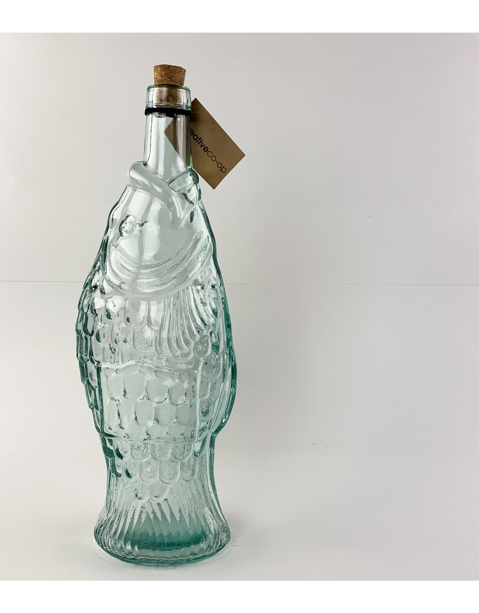 Creative Co-Op Fish Cork Bottle With Stopper