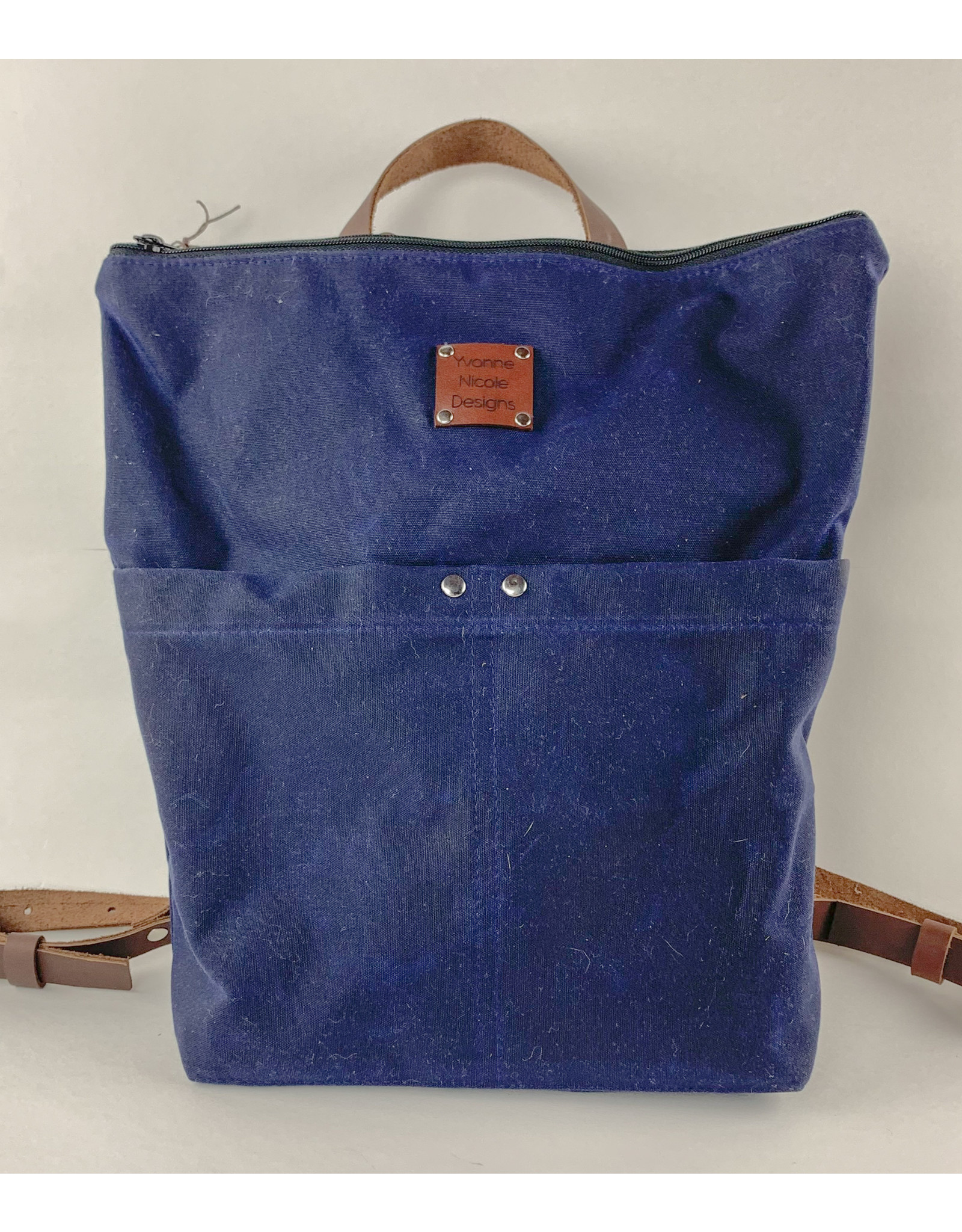 Yvonne Nicole Designs Navy Blue Backpack Consignment
