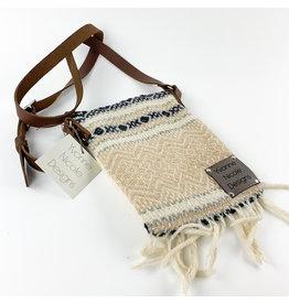 Yvonne Nicole Designs Flat Wool Crossbody Tans Consignment