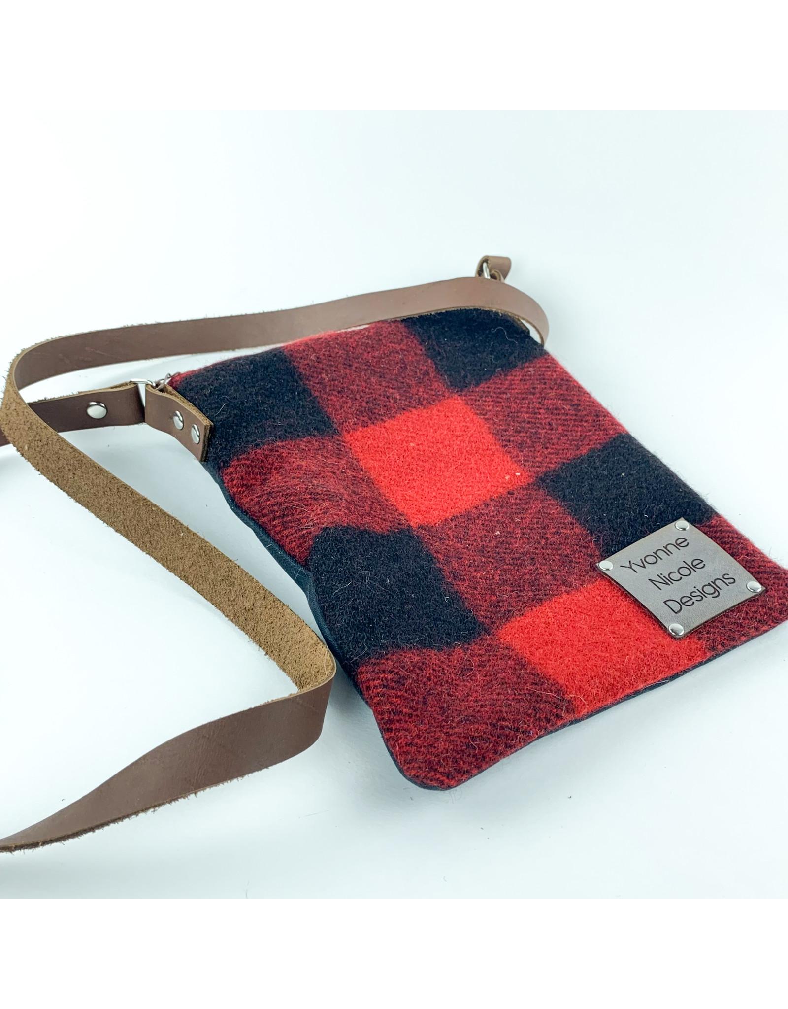 Yvonne Nicole Designs Flat Wool Crossbody Plaid Consignment