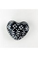 Creative Co-Op Stoneware Heart Embossed