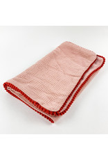 Creative Co-Op Cotton Terry Burp Cloth Pink