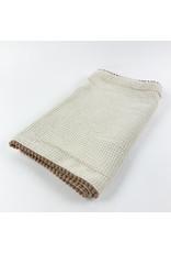 Creative Co-Op Cotton Terry Burp Cloth Cream