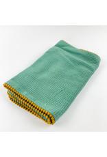 Creative Co-Op Cotton Terry Burp Cloth Green