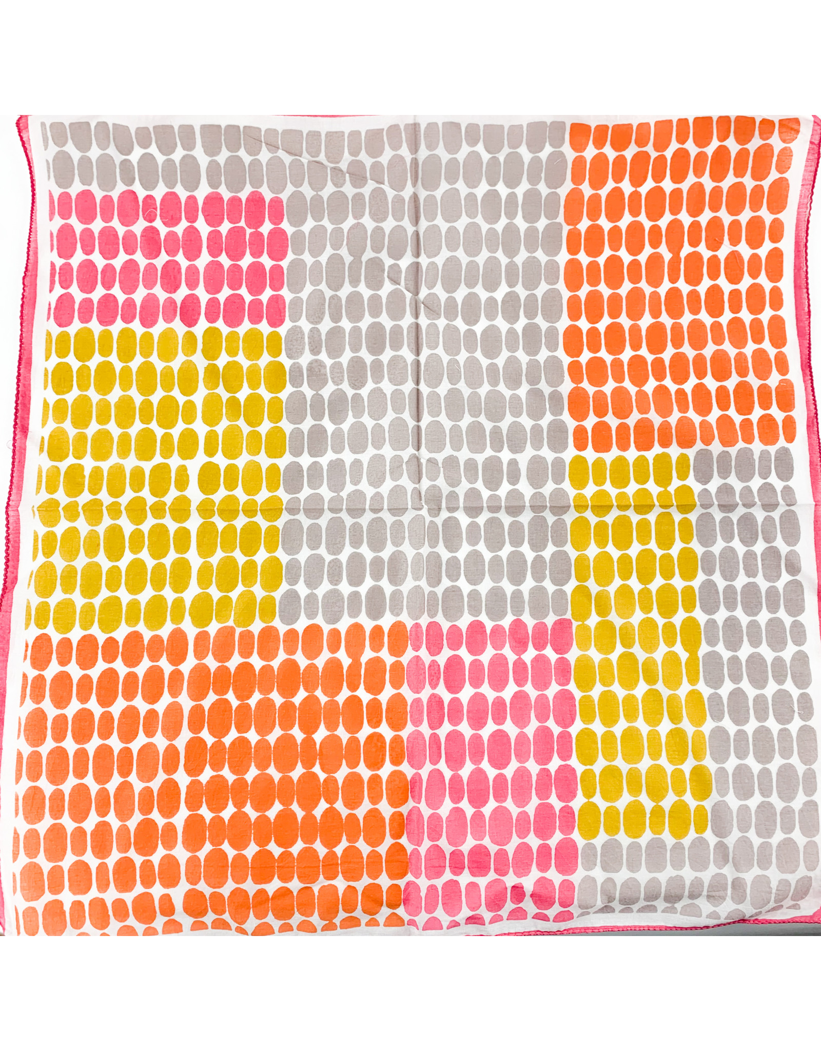 Creative Co-Op Cotton Printed Bandana Color Block