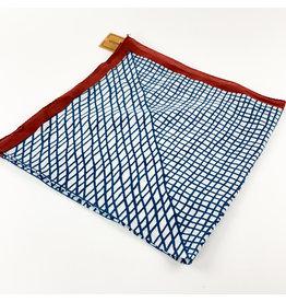 Creative Co-Op Cotton Printed Bandana Blue Lines