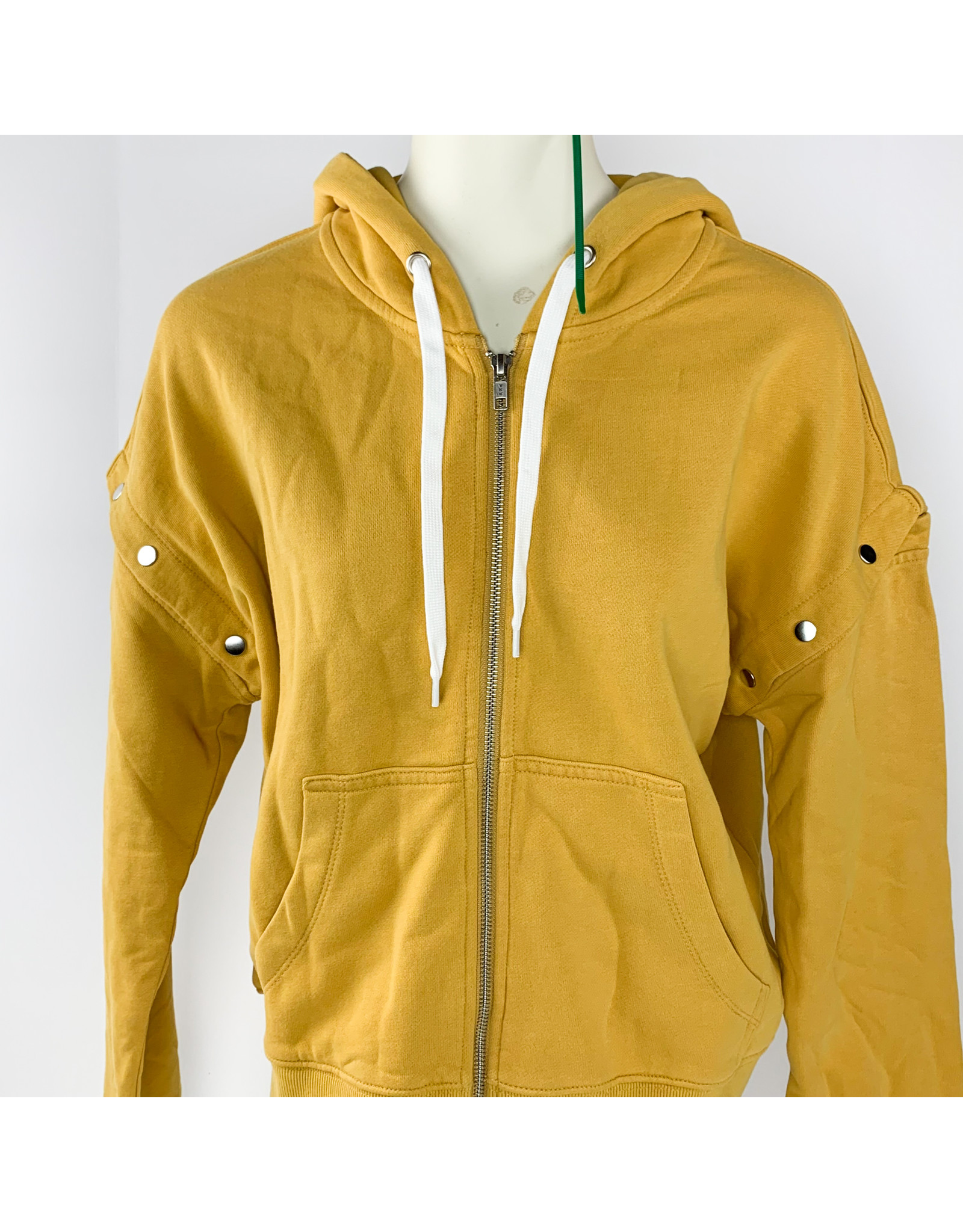 Kut from the Cloth Madelyn Zip Up Hoodie - Mustard