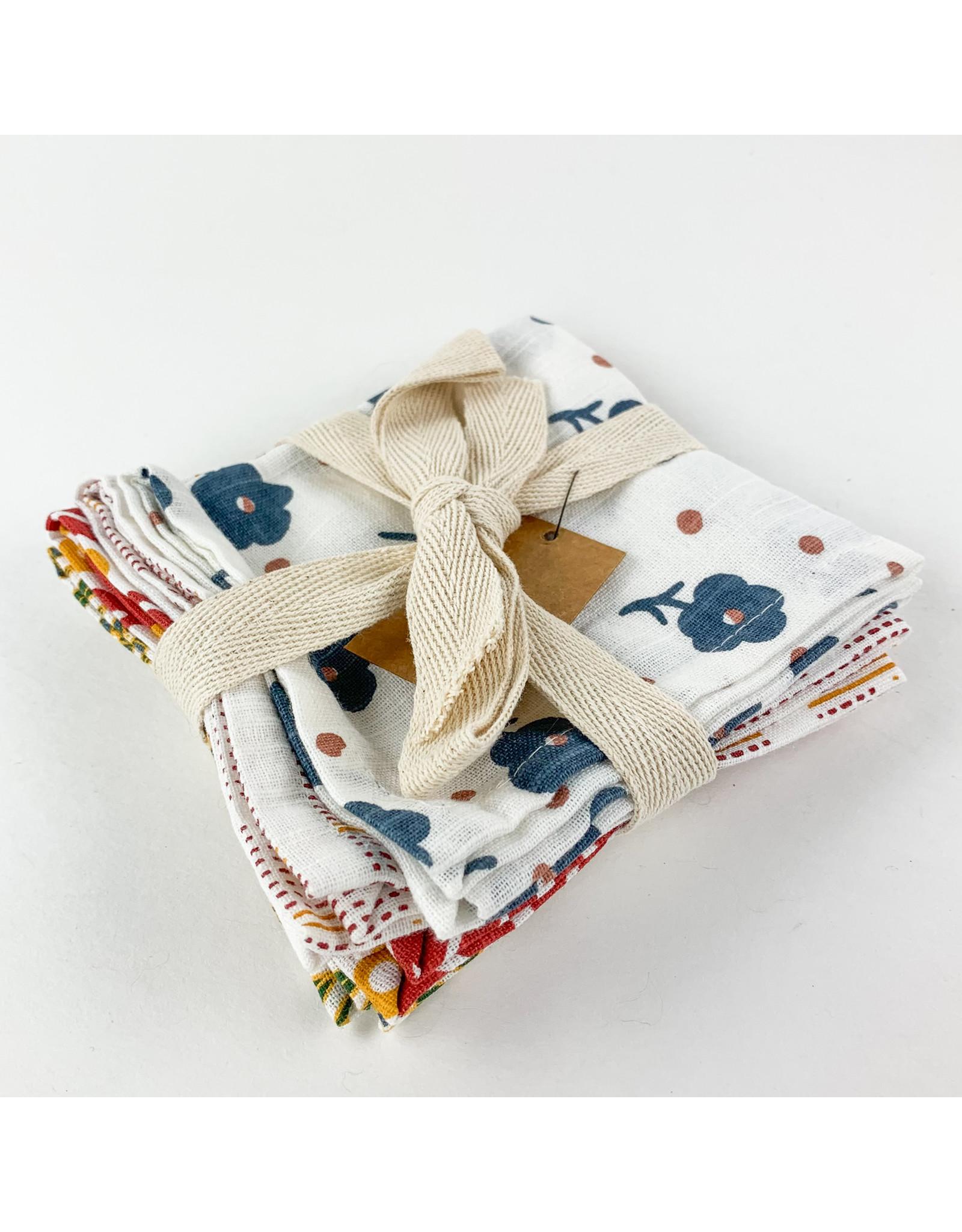 Creative Co-Op Cotton Printed Napkins Set of 4