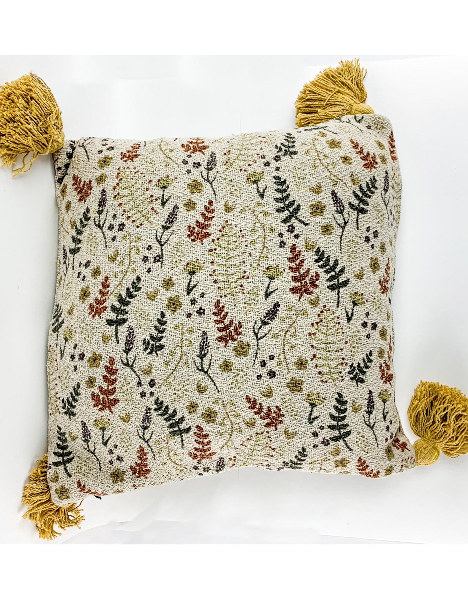 Creative Co-Op Square Recycled Cotton Pillow