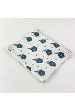 Creative Co-Op 8x6 Cotton Zip Blue Floral