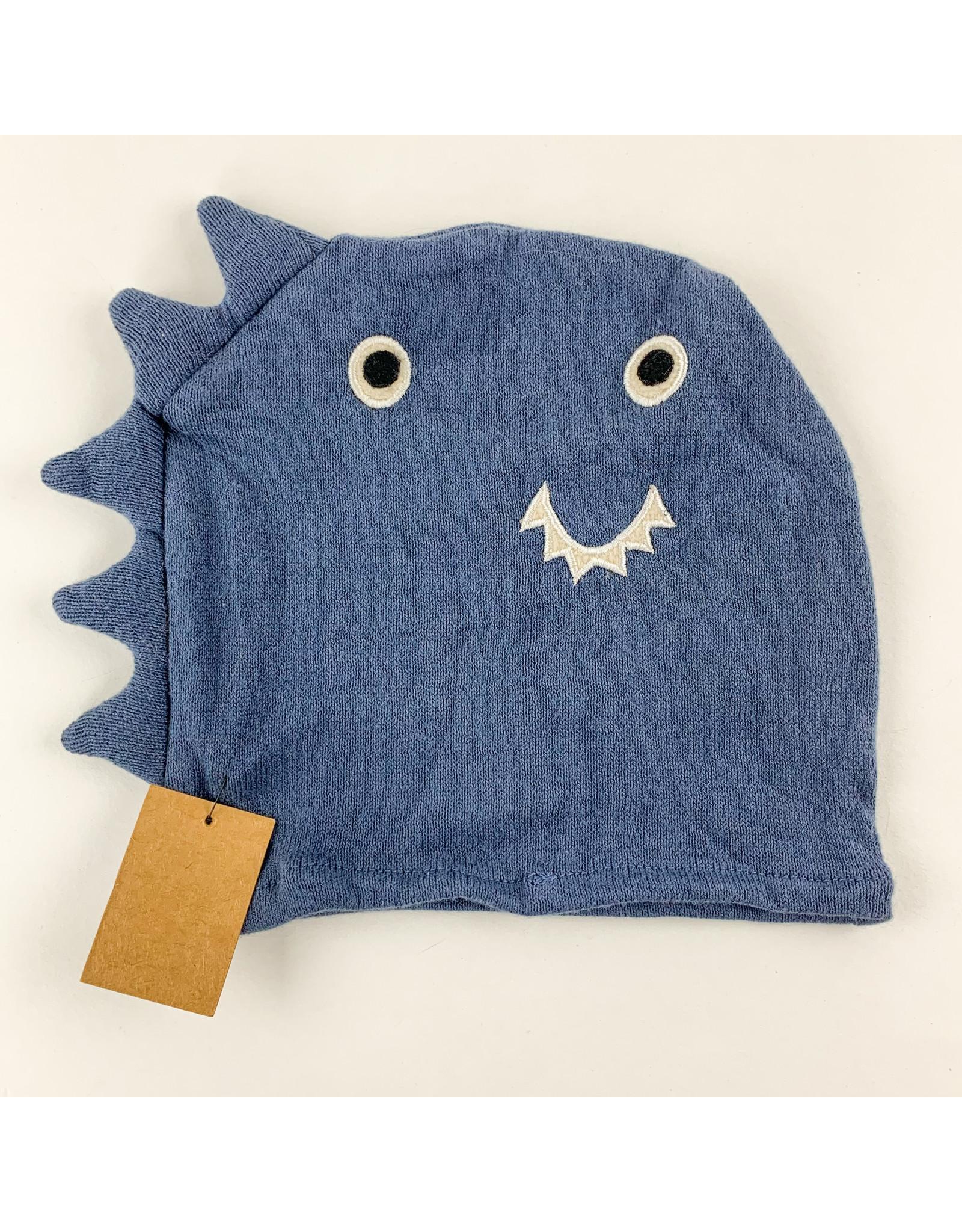 Creative Co-Op Cotton Knit Bath Mitt Blue Dinosaur
