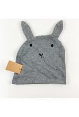 Creative Co-Op Cotton Knit Bath Mitt Grey Bunny
