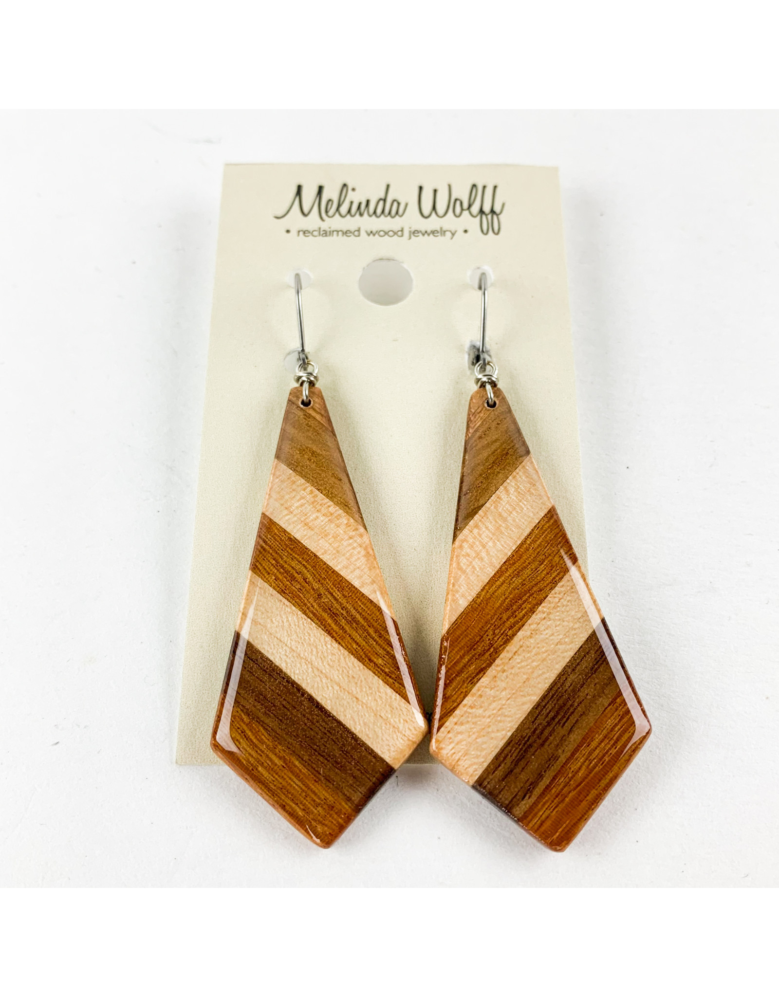 Melinda Wolff-consignment earrings, lg geometric, consignment E10-L